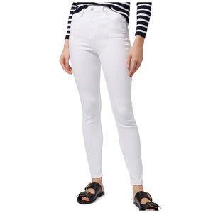 TopShop White Moto Jamie High Waist Skinny Jeans
